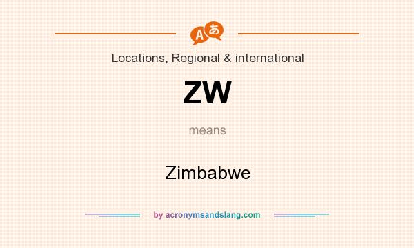What does ZW mean? It stands for Zimbabwe