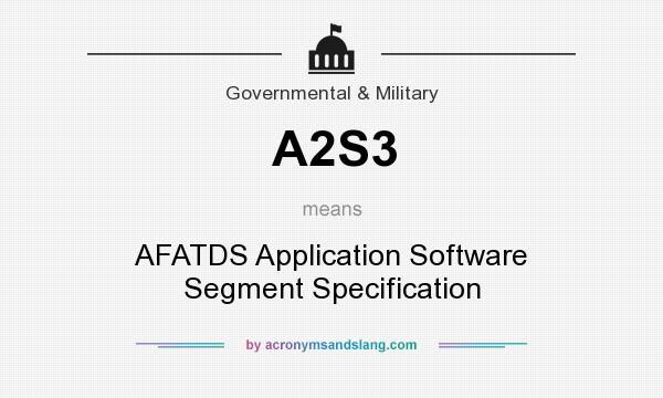 What does A2S3 mean? It stands for AFATDS Application Software Segment Specification
