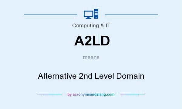 What does A2LD mean? It stands for Alternative 2nd Level Domain