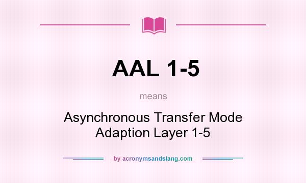 What does AAL 1-5 mean? It stands for Asynchronous Transfer Mode Adaption Layer 1-5