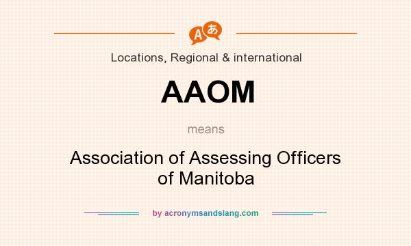 What does AAOM mean? It stands for Association of Assessing Officers of Manitoba
