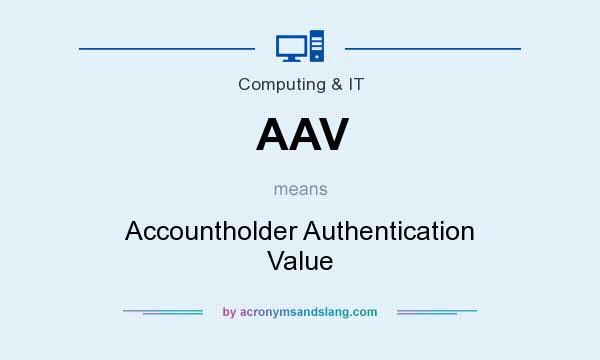 What does AAV mean? It stands for Accountholder Authentication Value