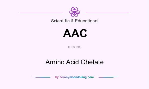 What does AAC mean? It stands for Amino Acid Chelate