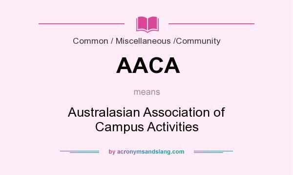 What does AACA mean? It stands for Australasian Association of Campus Activities