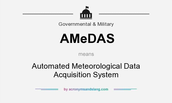 What does AMeDAS mean? It stands for Automated Meteorological Data Acquisition System