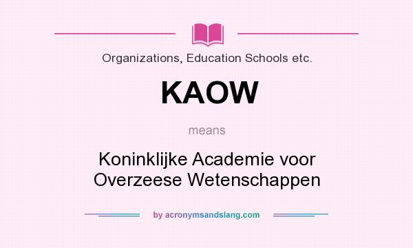 What does KAOW mean? It stands for Koninklijke Academie voor Overzeese Wetenschappen