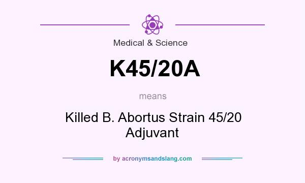 What does K45/20A mean? It stands for Killed B. Abortus Strain 45/20 Adjuvant