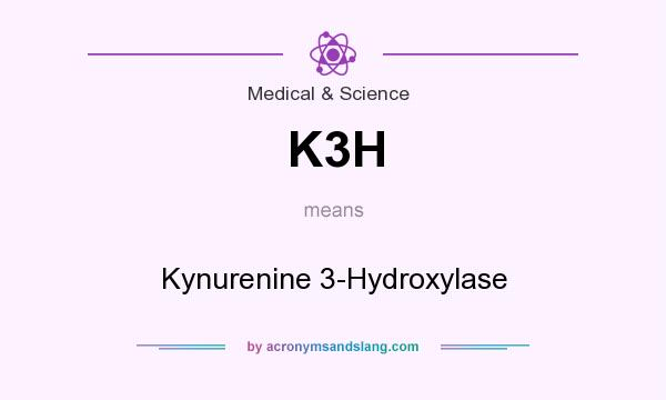 What does K3H mean? It stands for Kynurenine 3-Hydroxylase