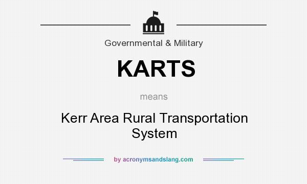 What does KARTS mean? It stands for Kerr Area Rural Transportation System
