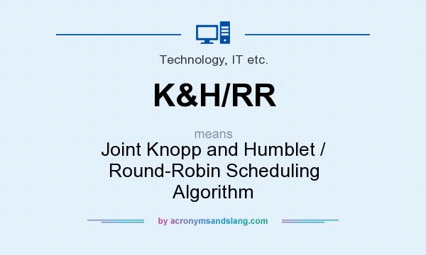 What does K&H/RR mean? It stands for Joint Knopp and Humblet / Round-Robin Scheduling Algorithm