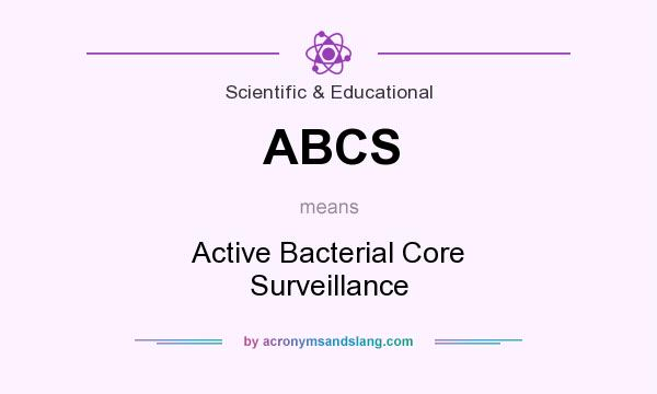 What does ABCS mean? It stands for Active Bacterial Core Surveillance