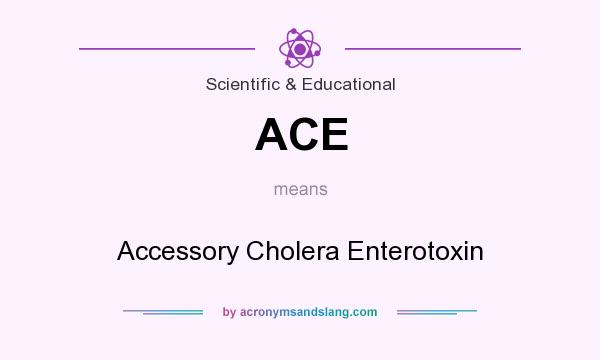 What does ACE mean? It stands for Accessory Cholera Enterotoxin