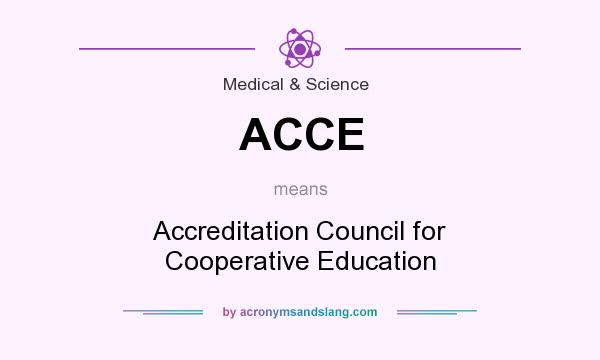 What does ACCE mean? It stands for Accreditation Council for Cooperative Education