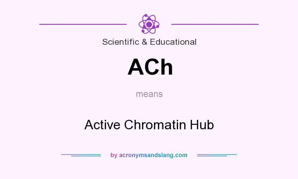 What does ACh mean? It stands for Active Chromatin Hub