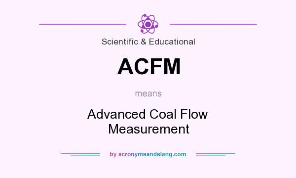What does ACFM mean? It stands for Advanced Coal Flow Measurement