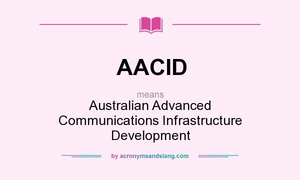 What does AACID mean? It stands for Australian Advanced Communications Infrastructure Development