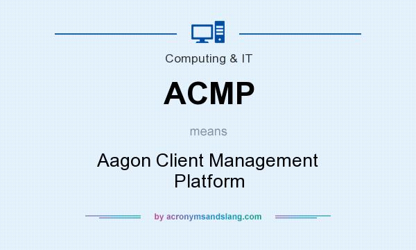 What does ACMP mean? It stands for Aagon Client Management Platform