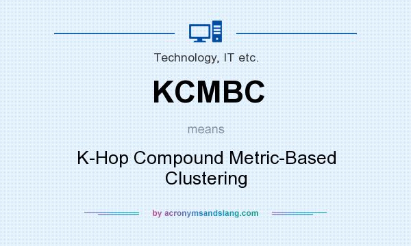 What does KCMBC mean? It stands for K-Hop Compound Metric-Based Clustering