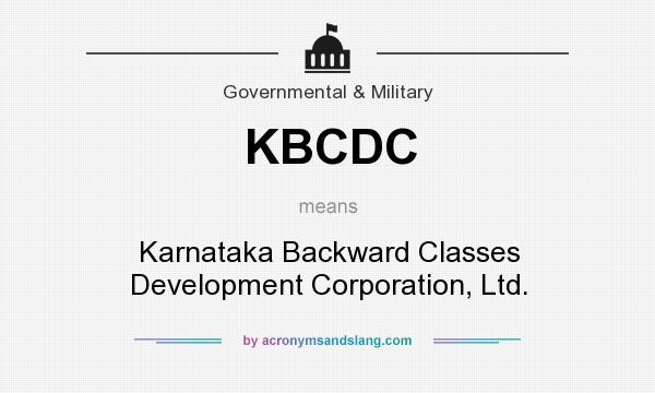 What does KBCDC mean? It stands for Karnataka Backward Classes Development Corporation, Ltd.