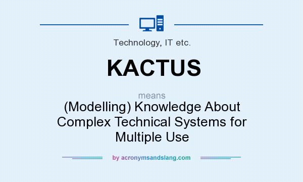 What does KACTUS mean? It stands for (Modelling) Knowledge About Complex Technical Systems for Multiple Use