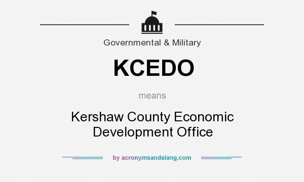 What does KCEDO mean? It stands for Kershaw County Economic Development Office