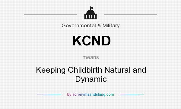 What does KCND mean? It stands for Keeping Childbirth Natural and Dynamic