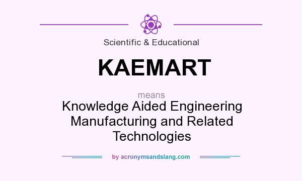 What does KAEMART mean? It stands for Knowledge Aided Engineering Manufacturing and Related Technologies