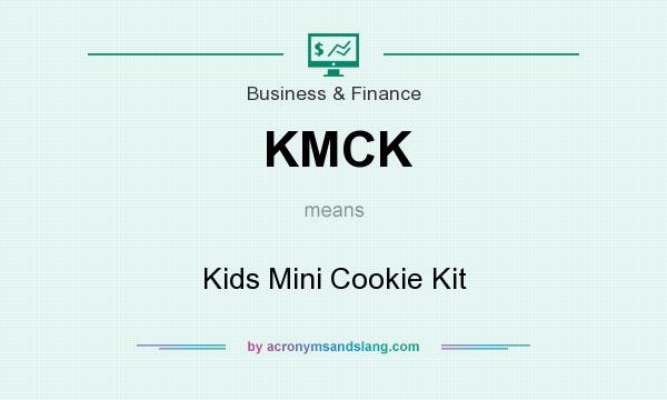 What does KMCK mean? It stands for Kids Mini Cookie Kit