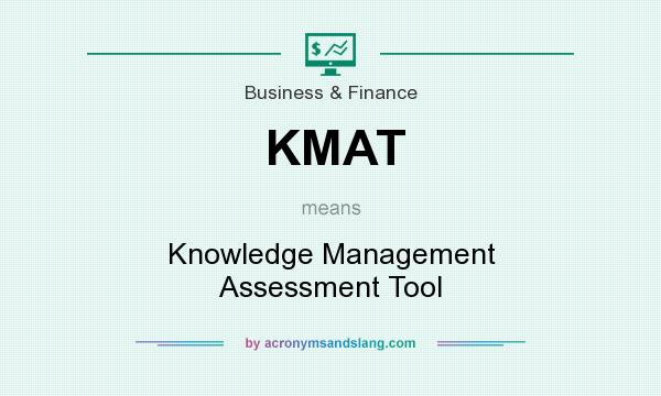 What does KMAT mean? It stands for Knowledge Management Assessment Tool