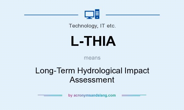What does L-THIA mean? It stands for Long-Term Hydrological Impact Assessment