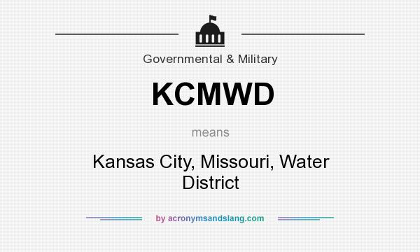 What does KCMWD mean? It stands for Kansas City, Missouri, Water District