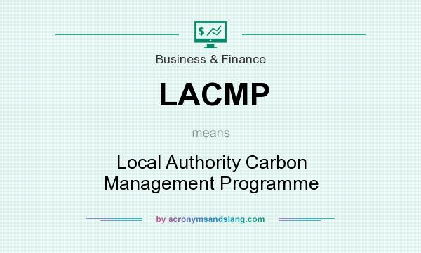 What does LACMP mean? It stands for Local Authority Carbon Management Programme