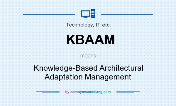 What does KBAAM mean? It stands for Knowledge-Based Architectural Adaptation Management