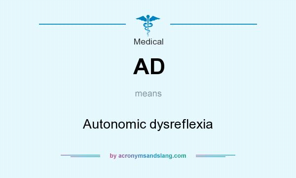 What does AD mean? It stands for Autonomic dysreflexia