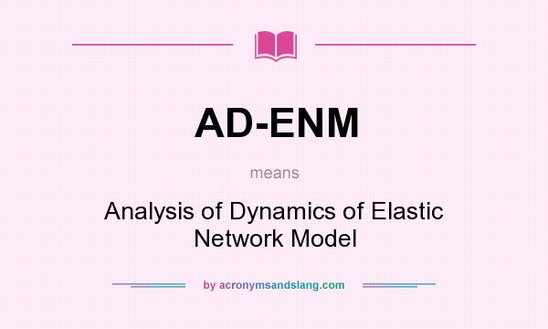What does AD-ENM mean? It stands for Analysis of Dynamics of Elastic Network Model