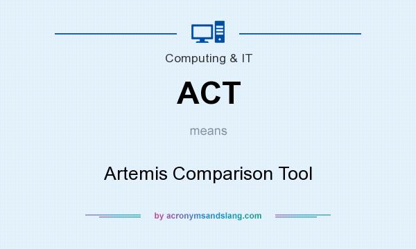 What does ACT mean? It stands for Artemis Comparison Tool