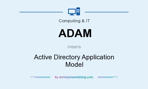 What does ADAM mean? It stands for Active Directory Application Model