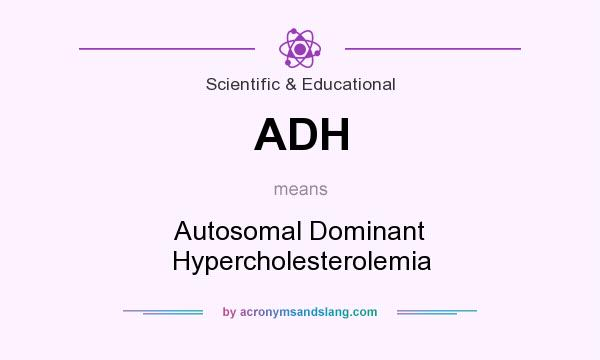What does ADH mean? It stands for Autosomal Dominant Hypercholesterolemia