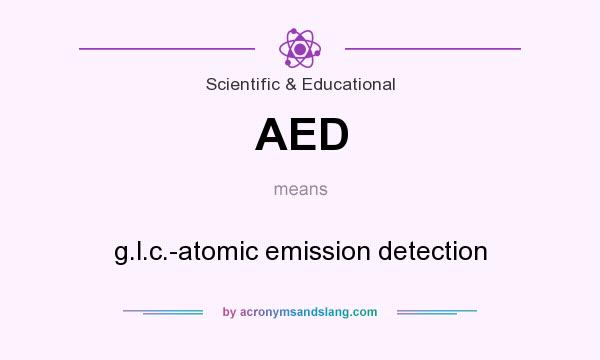 What does AED mean? It stands for g.l.c.-atomic emission detection