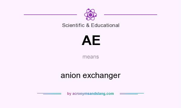 What does AE mean? It stands for anion exchanger