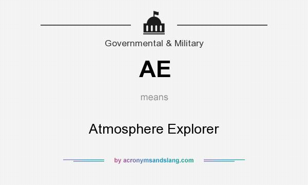 What does AE mean? It stands for Atmosphere Explorer