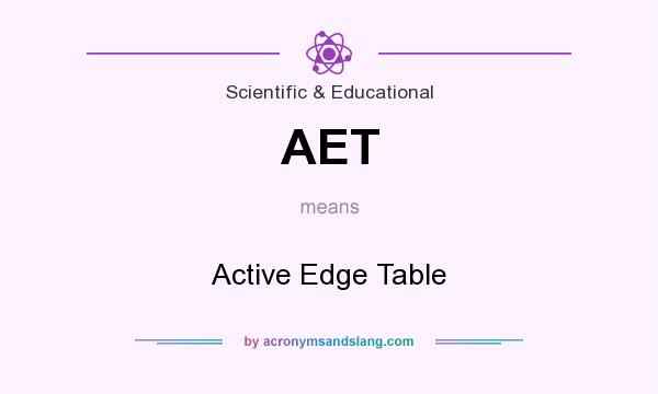 What does AET mean? It stands for Active Edge Table