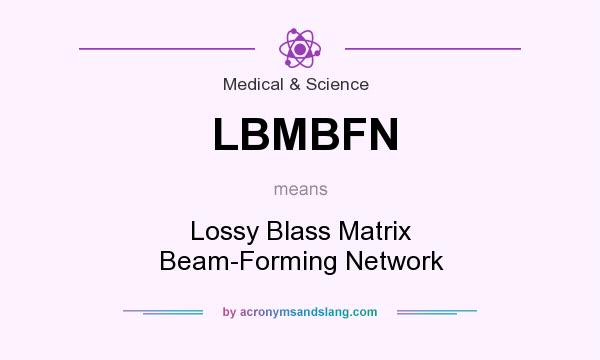 What does LBMBFN mean? It stands for Lossy Blass Matrix Beam-Forming Network