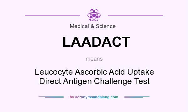 What does LAADACT mean? It stands for Leucocyte Ascorbic Acid Uptake Direct Antigen Challenge Test