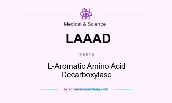 What does LAAAD mean? It stands for L-Aromatic Amino Acid Decarboxylase