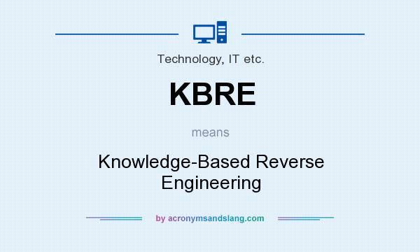 What does KBRE mean? It stands for Knowledge-Based Reverse Engineering