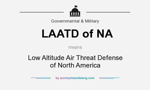 What does LAATD of NA mean? It stands for Low Altitude Air Threat Defense of North America