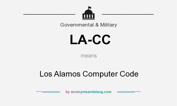 What does LA-CC mean? It stands for Los Alamos Computer Code