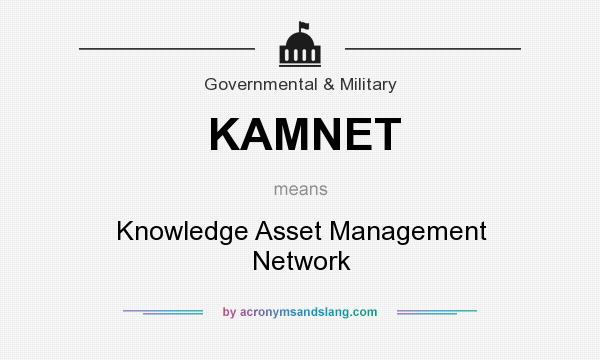 What does KAMNET mean? It stands for Knowledge Asset Management Network