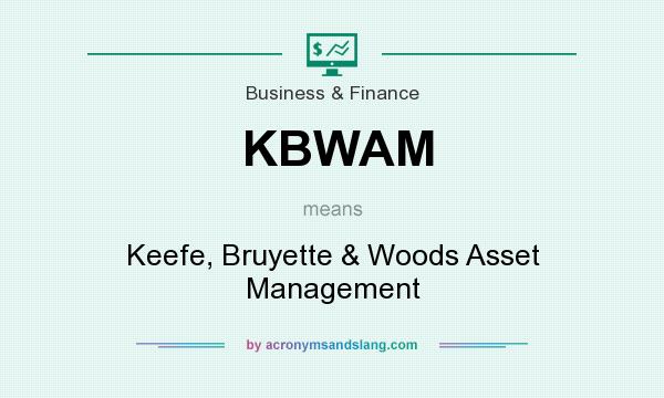What does KBWAM mean? It stands for Keefe, Bruyette & Woods Asset Management